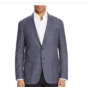 Todd Snyder Navy Gray Plaid Slim Fit Sport Coat
